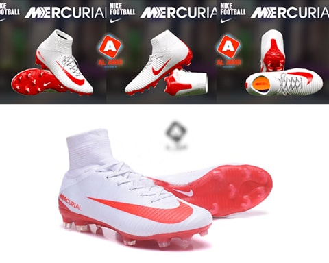 7d9aebbfb PES 2017 Nike Mercurial Superfly White Red Boot