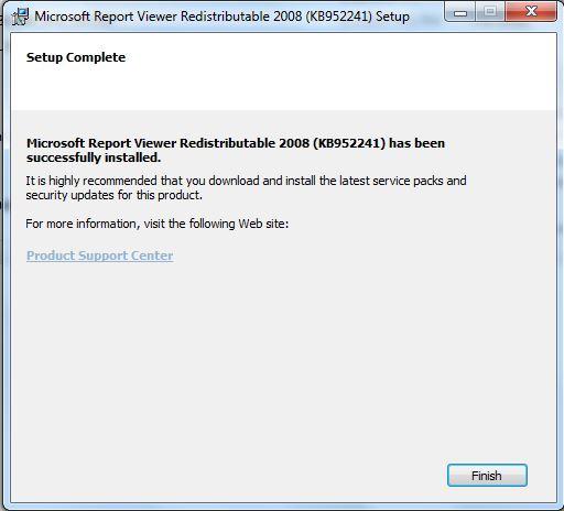 install Microsoft Report Viewer Redistributable 2008  2