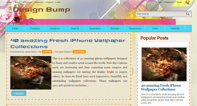 Design Bump Blogger Template