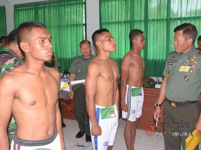 Suko Pranoto Pimpin Pantukhir Calon Bintara PK di Kodam Pattimura