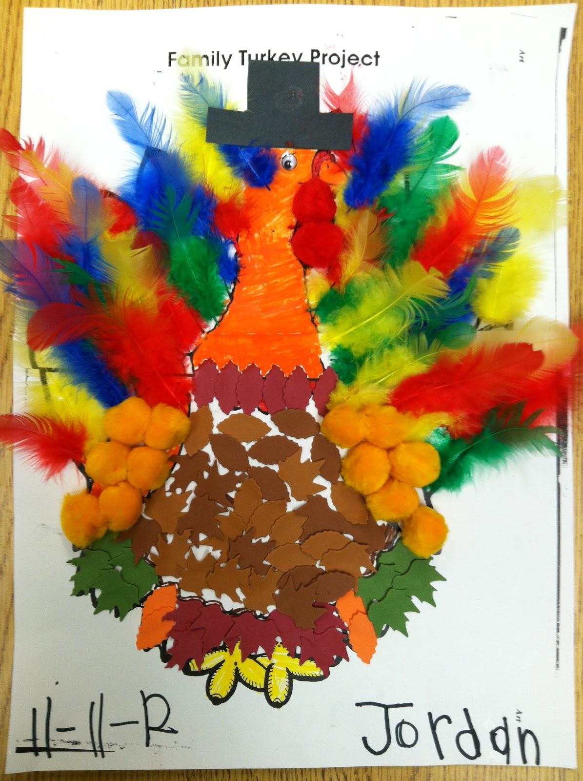 I Heart My Kinder Kids Family Turkey Project
