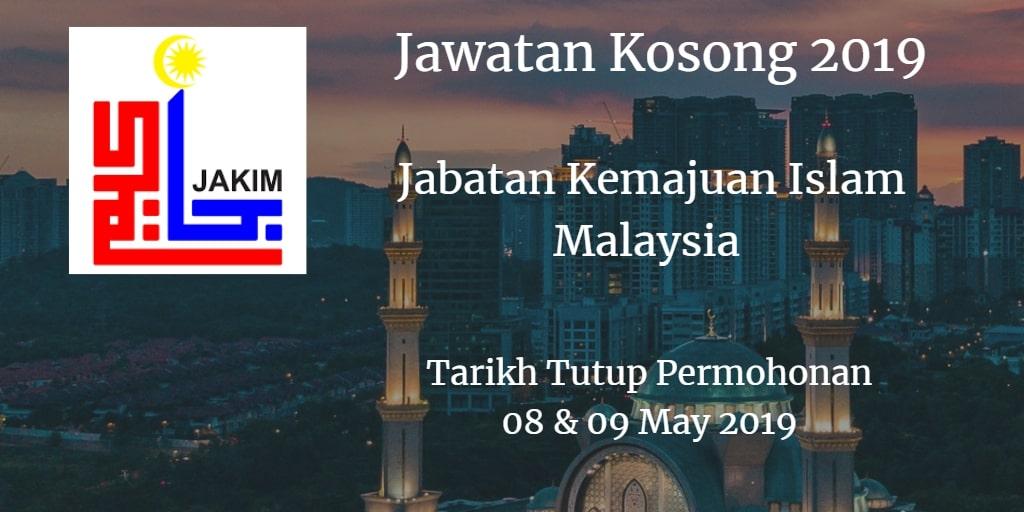 Jawatan Kosong JAKIM 08 & 09 May 2019