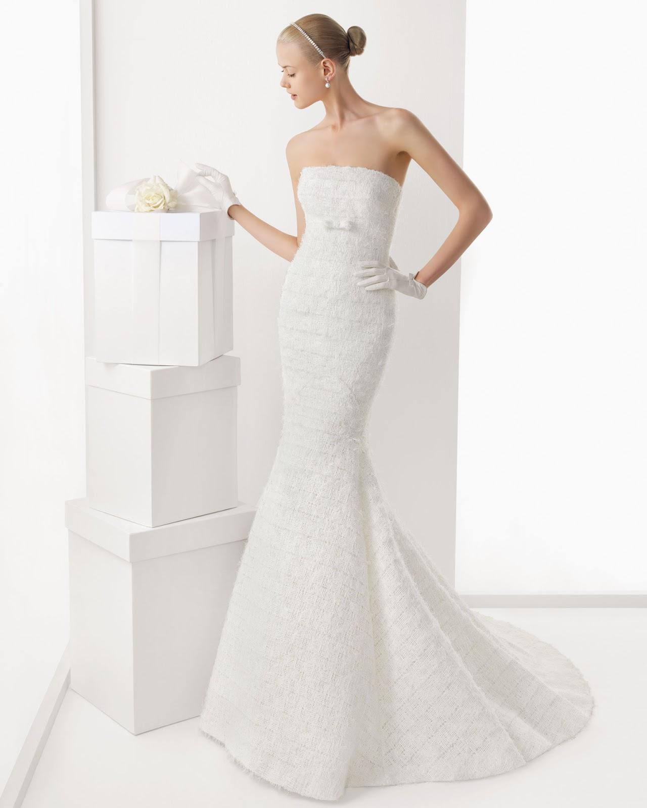 Vestidos palabra de honor para bodas