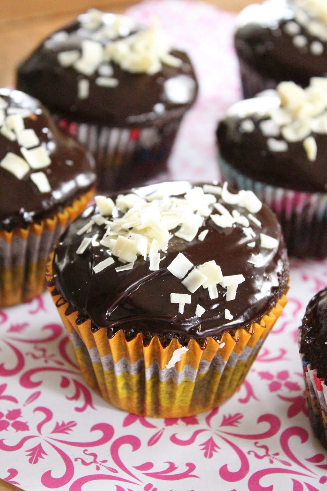 Double Chocolate Cupcakes With Chocolate Ganache Eat