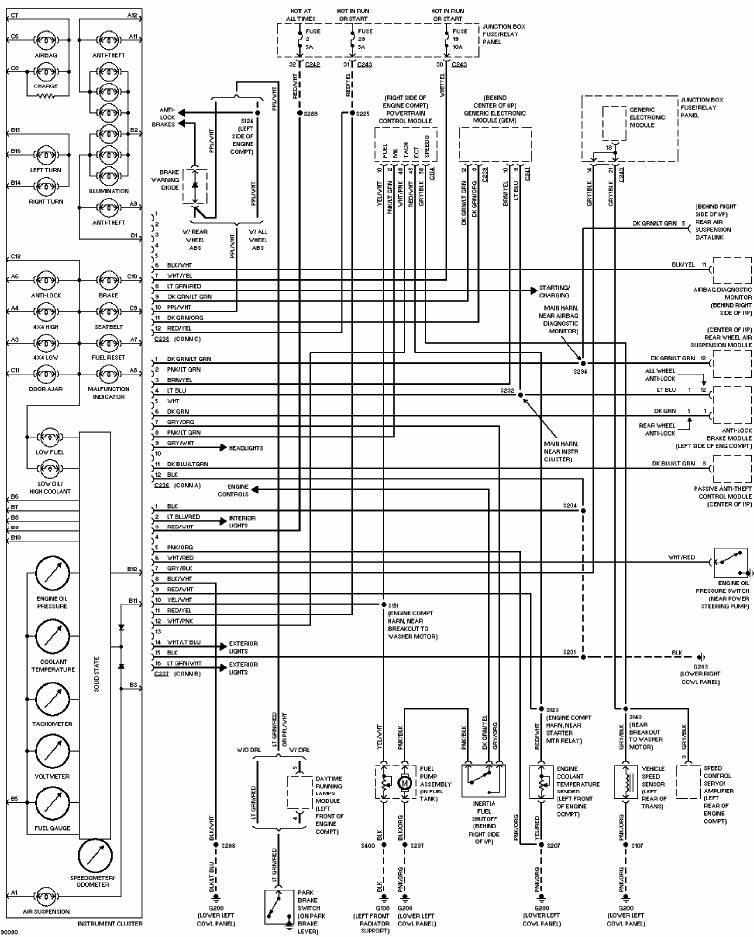 Ford F150 1997 Instrument Cluster Wiring Diagram | All about Wiring Diagrams