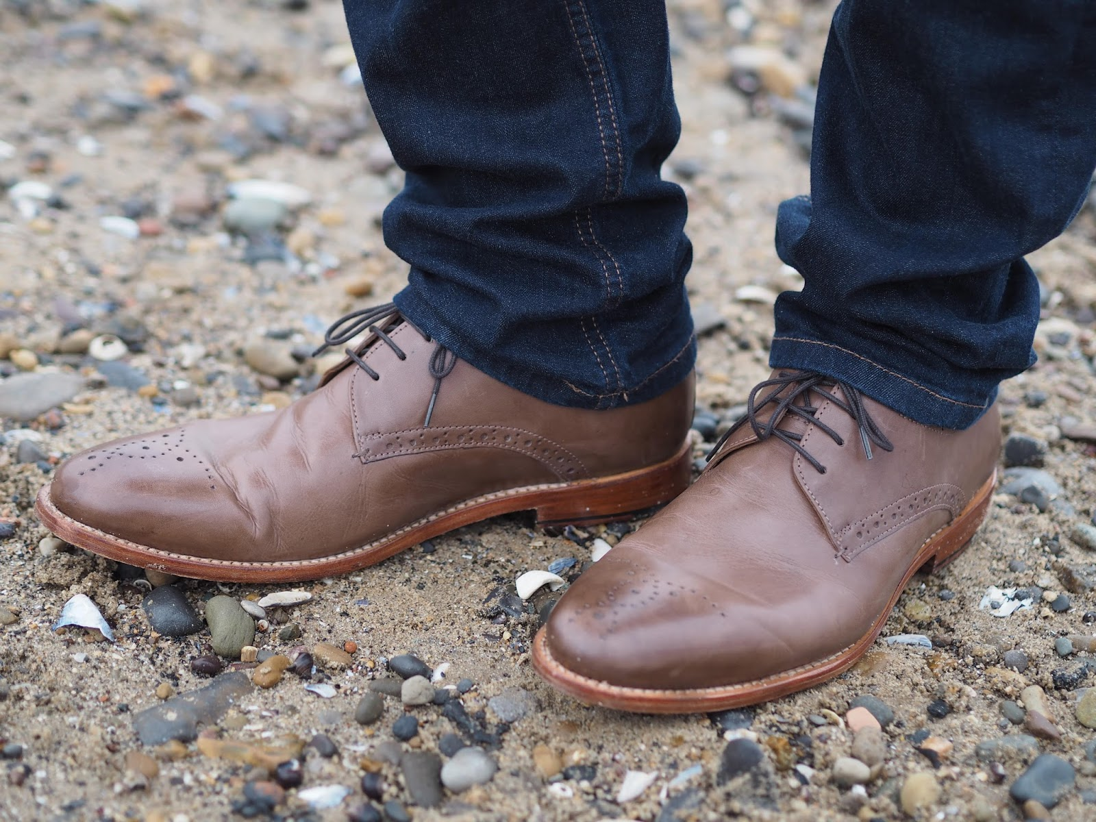men's brown leather brogues from Lotus shoes