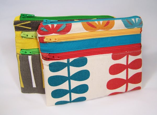 Triple Zip Pouches You Can Sew How About Orange