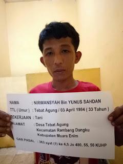 Setelah Masuk DPO, Nirwansyah, Akhirnya Ditangkap Polisi