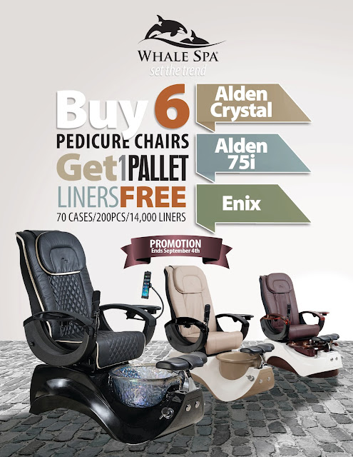 August 2017 sale for pedicure chairs, spa Chairs and massage chairs by PediSource.com
