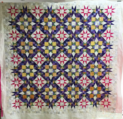 En Provence 2016 Mystery Quilt by Eirwen Quilted by Frances Meredith at Fabadashery Quilting