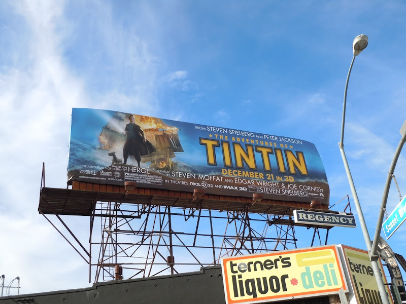 Adventures of Tintin billboard