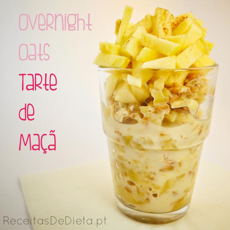 Overnight Oats Tarte de Maçã