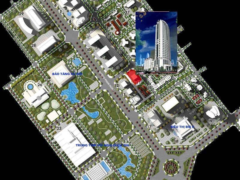 Vị Trí Thăng Long Royal Plaza