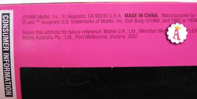 Где выпущена кукла Barbie Jewel Hair Mermaid 1995