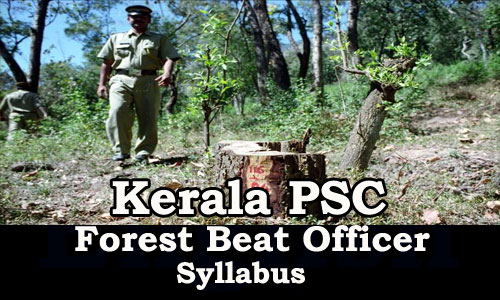 Kerala PSC Forest Beat Officer Sylabus 2016