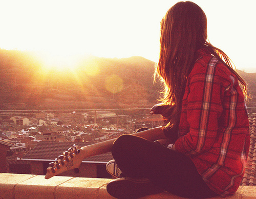 girl with guitar profile pictures. Black Bedroom Furniture Sets. Home Design Ideas