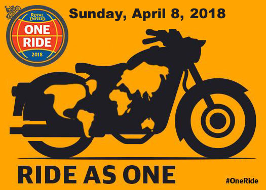 Royal Enfield One Ride Sunday, April 8, 2018