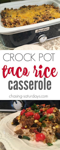 Crock Pot Taco Rice Casserole