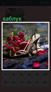 651 слов женский каблук украшенный цветами 16 уровень