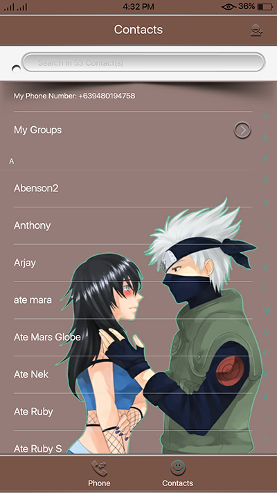 Oppo F3 Theme Naruto Anime Theme