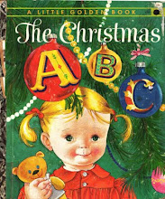 vintage Christmas ABC book swap