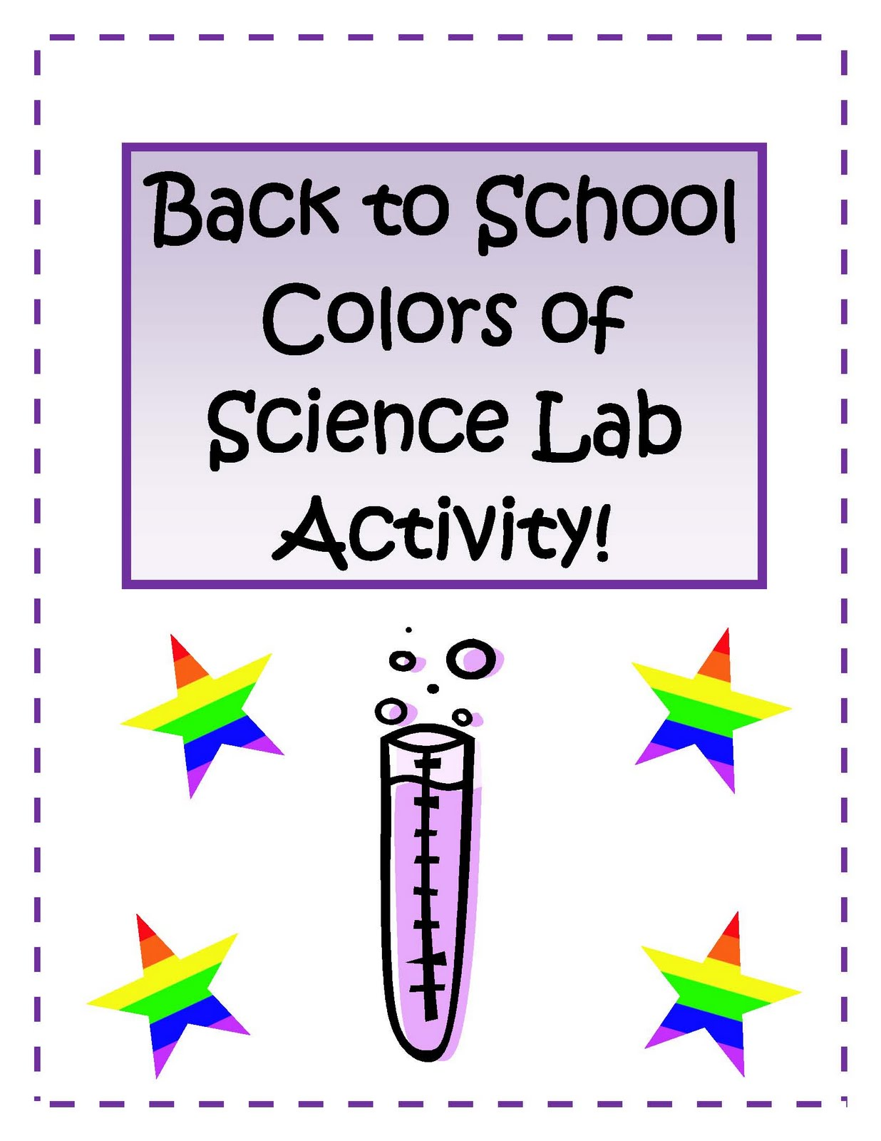 Made 4 Elementary And Made 4 Middle School Back To School Colors Of Science Lab Activity
