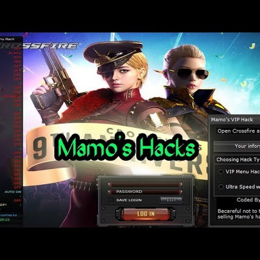 Mamo's Hacks| Headshot - Aimbot - Fly hack Crossfire Na 12/3