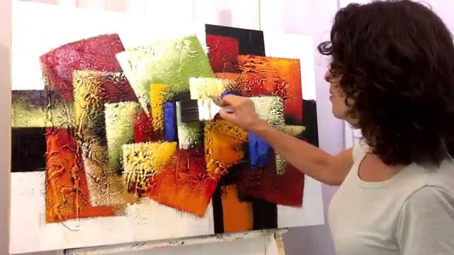Quadros abstratos com textura