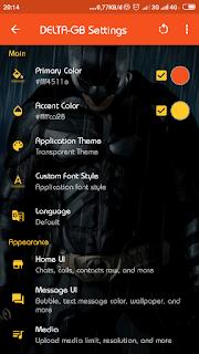 Ganti Warna Tema Apk GB Delta Mod