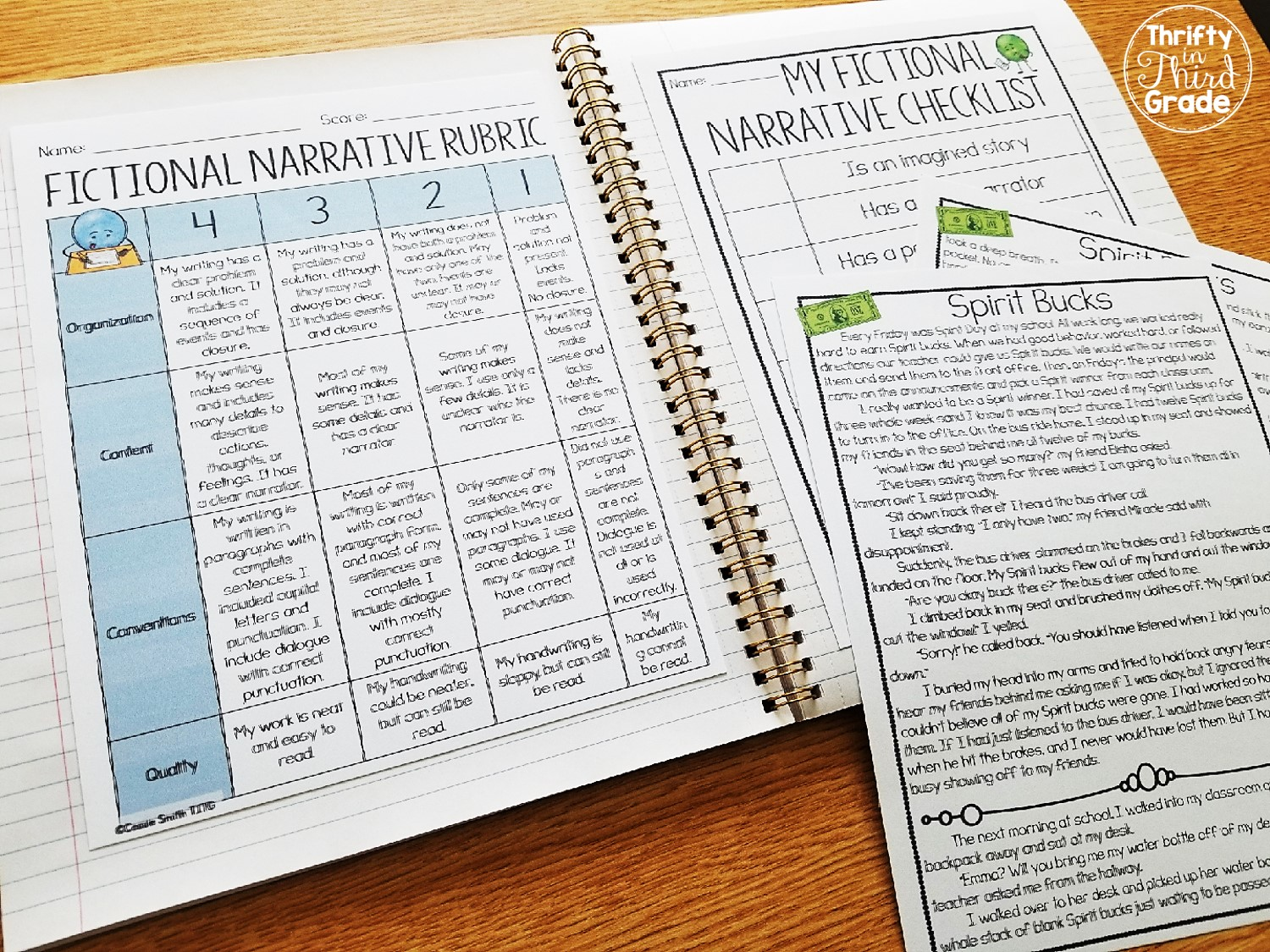 Fictional Narrative Writing (Grades 2-5) | Thrifty in Third
