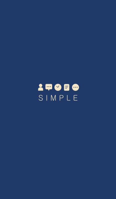 シンプル(ネイビー ベージュ)Ver.16