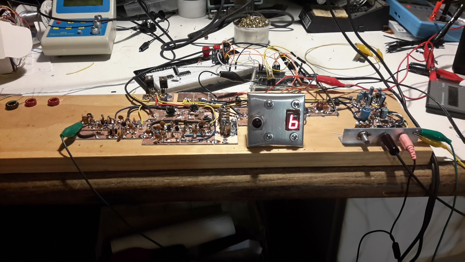 Steves Eclectic Radio Blog 2016 Lm380 Single National Forms Simple Amplifier With Tone And So Heres The Planker In Its Current State Af If Mixer Bfo Low Level Transmit Stages Are Operational Next Step Is To Complete Pa Band Pass