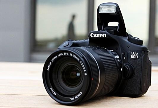 ilustrasi gambar kamera dslr canon eos 60d