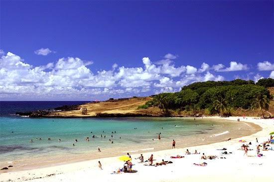 praias da ilha de pascoa