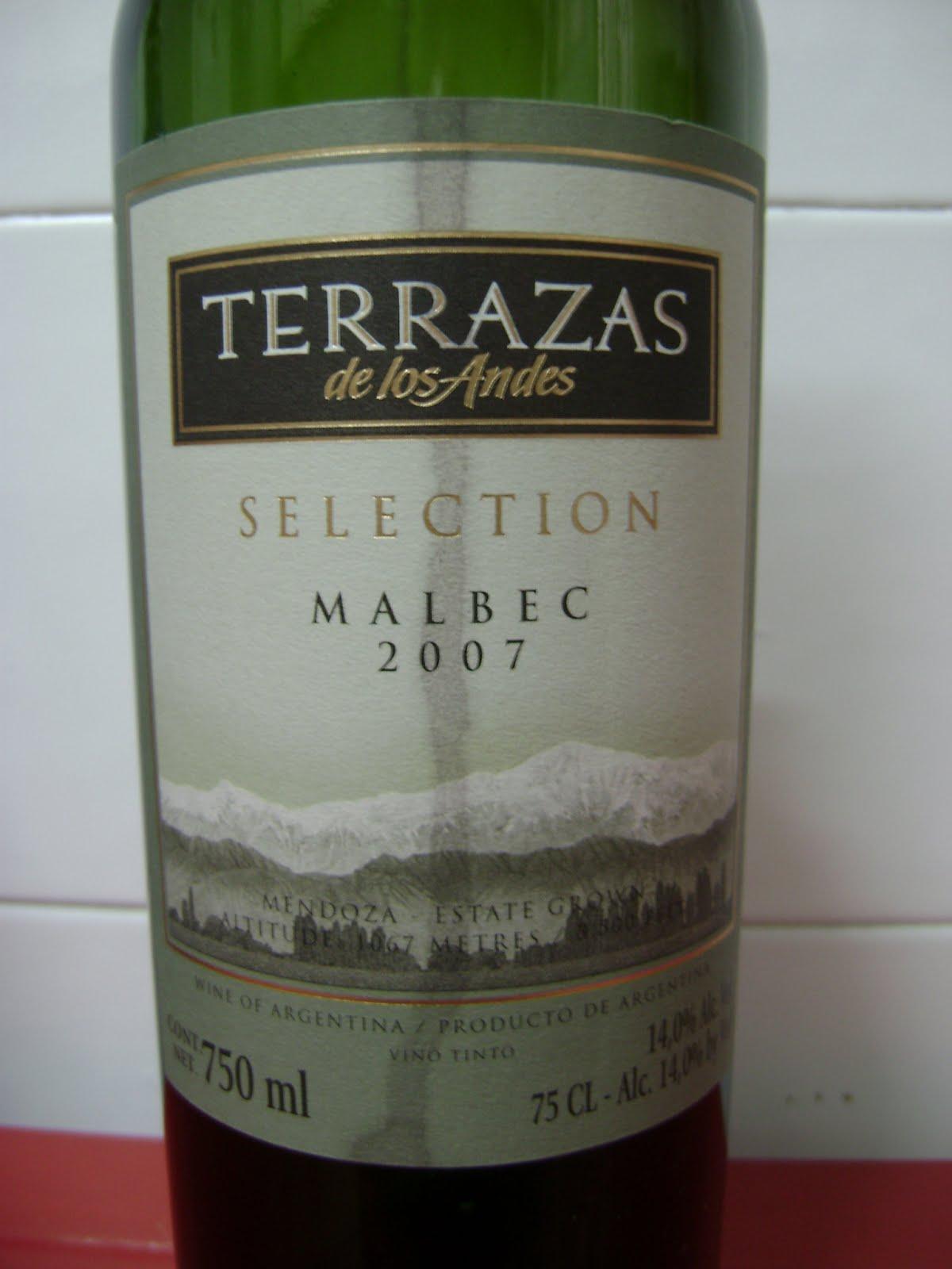 Solo El Vino Terrazas De Los Andes Seleccion Malbec 2007