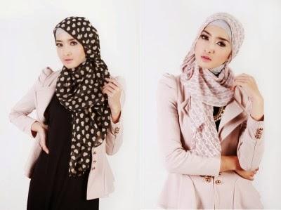 Desain baju kerja muslim wanita yang anggun