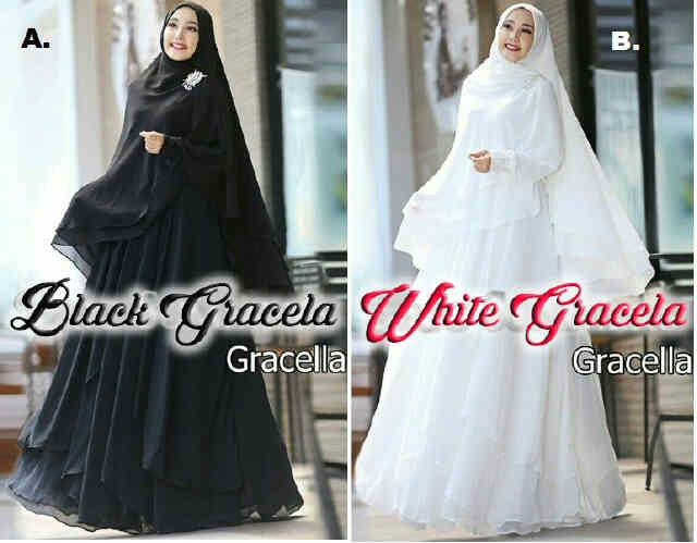 Pusat Grosir Baju Wanita Gamis Muslimah Gracella Maxi 081613