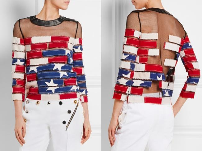 慶祝美國國慶日之美國旗上衣