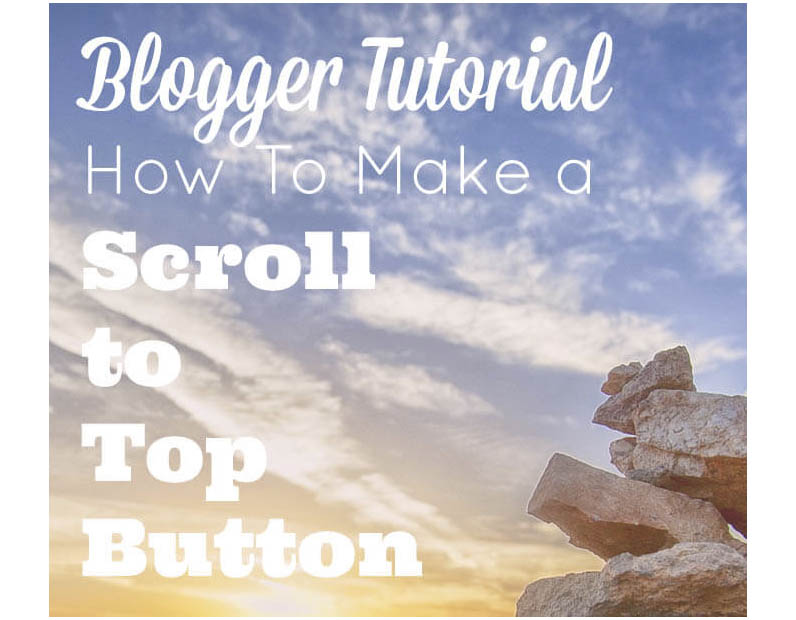 scroll to top blogger tutorial