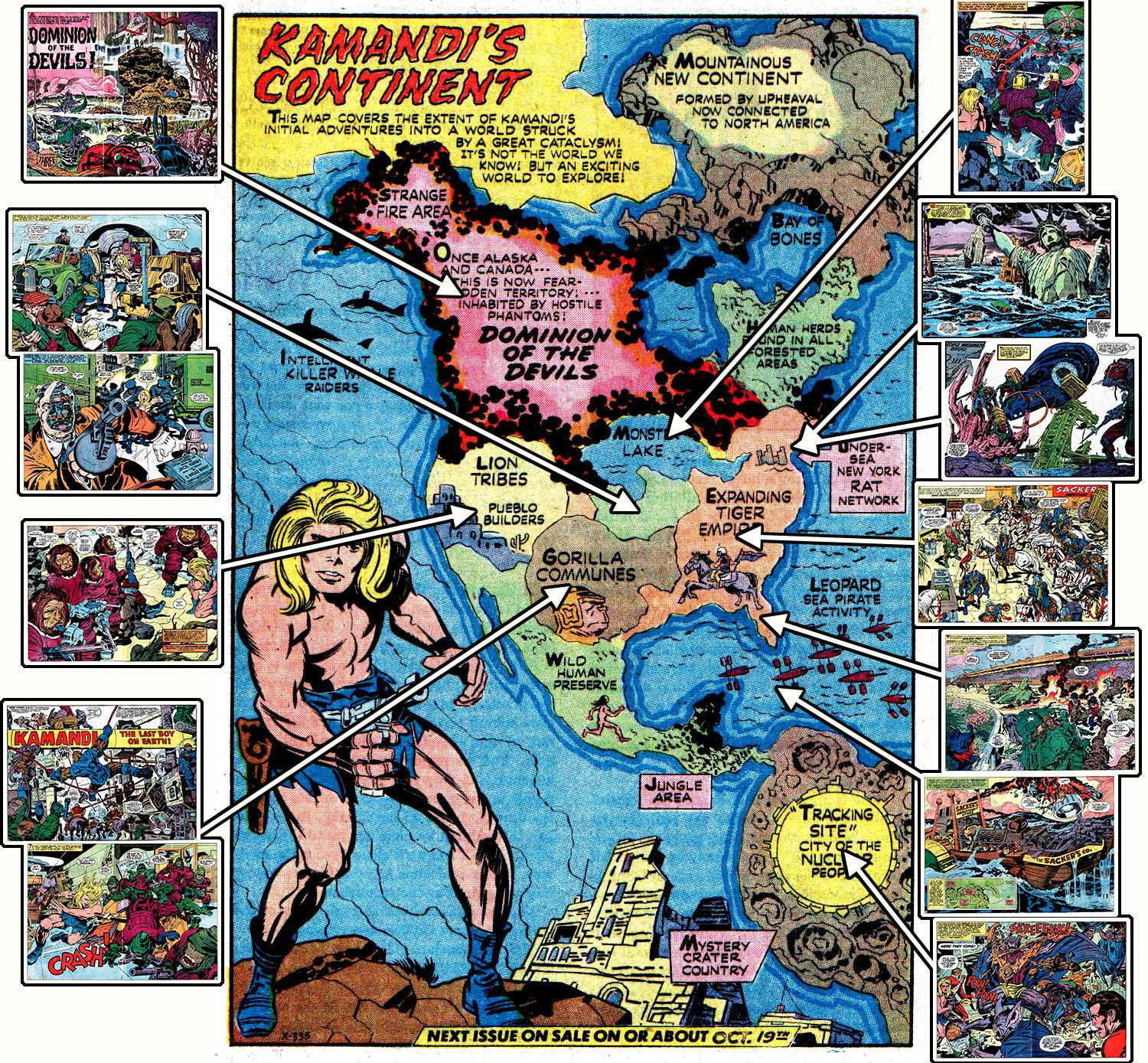 the original map is the center image those little boxes are some of the splash panels over the next 28 issues to show story locations