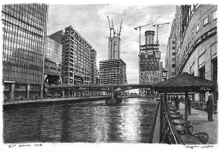 03-Canary-Wharf-London-Stephen-Wiltshire-Urban-Drawings-from-Memory-with-Detailed-Cityscapes-www-designstack-co