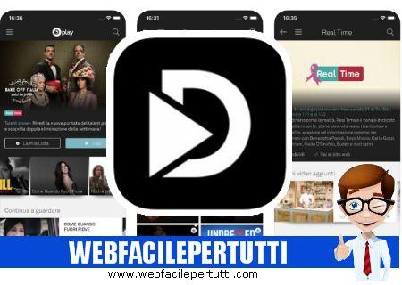 Dplay - Applicazione streaming video che  vi consente di vedere le migliori serie Tv