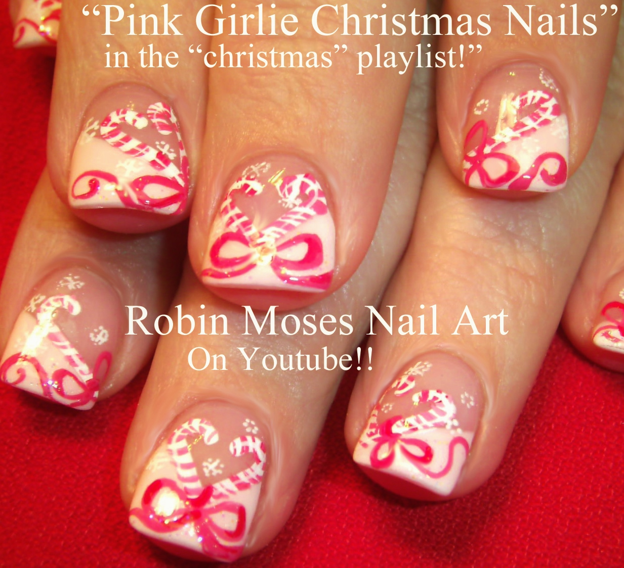 Nail Art by Robin Moses: Christmas Bows! Nail Art xmas presents on ...