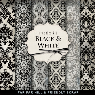 Freebies Background Kit - Black & White