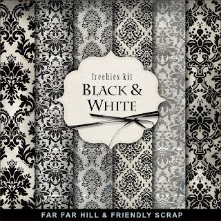 Freebies Background Kit - Black & White
