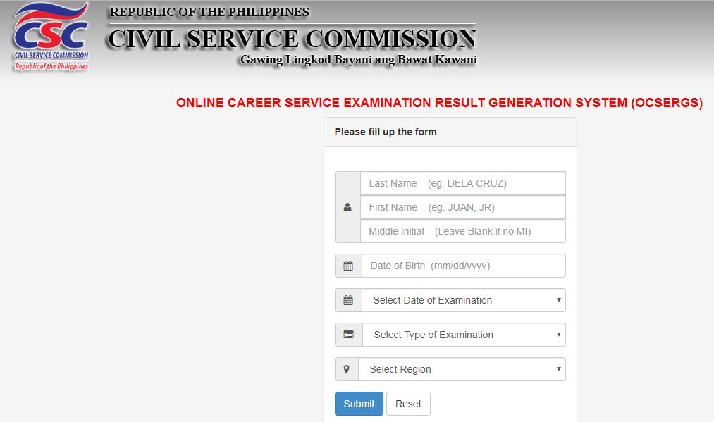 Online Verification Of Rating Ocsergs March 2019 Civil Service Exam Cse Ppt The Summit Express