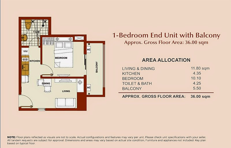 Brio Tower 1-Bedroom Unit 36.00 sqm.