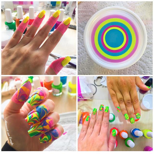 Watermarble Carnival Nail Art