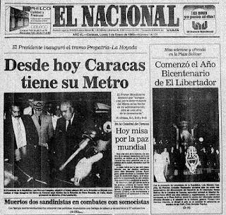 Efemérides Venezolanas del Mes de Enero. Efemérides de Venezuela. Tal dia como hoy en la Historia. Hoy en la Historia