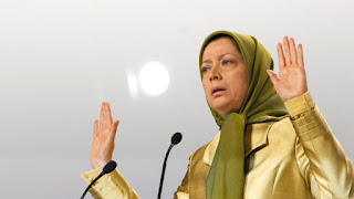 Maryam Rajavi, leader of the MeK in Villepinte, a northern suburb of Paris, Saturday, June 20, 2009. (AP)